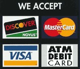 Major credit card acccepted for Legal Bud Purchase